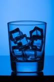 Glas met ijs Royalty-vrije Stock Foto