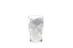 Glas met ijsblokje Royalty-vrije Stock Foto
