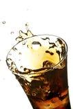Glas met kola Stock Foto's