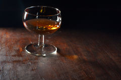 Glas met likeur Royalty-vrije Stock Foto's