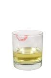 Glas met lippen imprintimprint Stock Foto