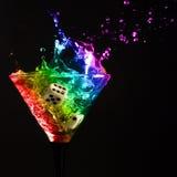 Glas met martini Stock Foto
