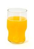 Glas met oranje fonkelende tablet Stock Fotografie