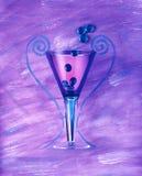 Glas met Parels Royalty-vrije Stock Afbeeldingen