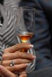 Glas met rode wijn. stock foto
