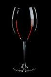 Glas met rode wijnen Stock Afbeeldingen