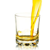 Glas met sap stock afbeeldingen