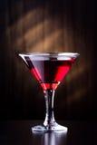 Glas met sap op een donkere achtergrond Royalty-vrije Stock Afbeelding