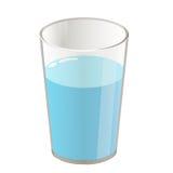 Glas met water geïsoleerde illustratie Royalty-vrije Stock Foto's