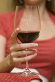 Glas met wijn royalty-vrije stock foto