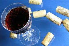 Glas met wijn Stock Fotografie