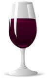 Glas met Wijn Stock Foto