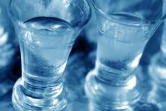 Glas met wodkaclose-up Stock Afbeelding