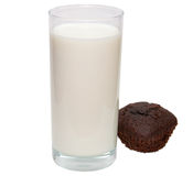 Glas Milch Stockfotografie