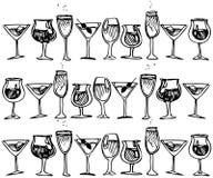 Glas mit Stockbild