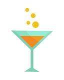Glas mit Champagne trennte Bild enthalten Transparent und verschiedene mischenbetriebsarten lizenzfreie abbildung