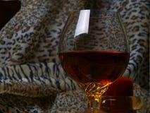 Glas mit einem swizzle Stockfotos