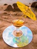 Glas mit einem Weincocktail Stockfoto