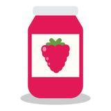 Glas mit Frucht- und Beerenstau Lizenzfreie Stockfotos