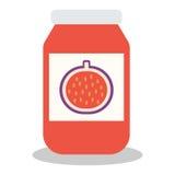 Glas mit Frucht- und Beerenstau Lizenzfreie Stockfotografie
