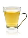 Glas mit gelbem Tee Lizenzfreie Stockfotografie