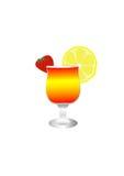 Glas mit Getränk stock abbildung