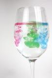 Glas mit Lack Stockbild