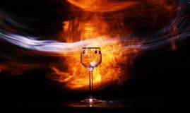 Glas mit Leuchte Stockfoto