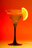 Glas mit Martini Stockfoto