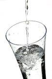 Glas mit Wasser Stockbild