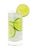 Glas mit Wasser; Beschneidungspfad Stockbild