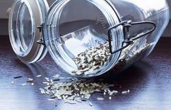 Glas mit wildem Reis Stockfotografie