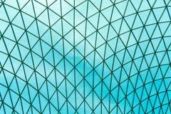 Glas modern panoramisch dak Het structurele buigende dak van de glasvoorgevel stock foto