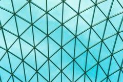Glas modern panoramisch dak Het structurele buigende dak van de glasvoorgevel royalty-vrije stock afbeeldingen