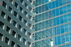 Glas, modernes Architekturbürogebäude stockfotos