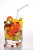 Glas multifruit stockbilder
