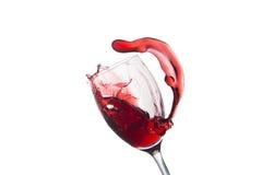 Glas odizolowywający na bielu czerwone wino Obraz Royalty Free