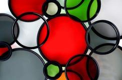 Glas om filters van verschillende kleuren Royalty-vrije Stock Afbeelding