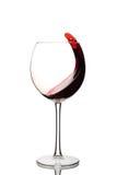 Glas onderzoek-wijn splashing Stock Afbeelding