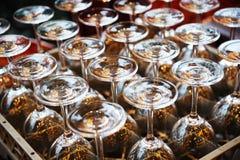 Glas op de lijst Royalty-vrije Stock Afbeeldingen