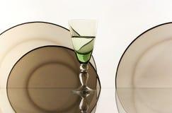 Glas op de witte achtergrond Royalty-vrije Stock Foto's