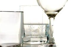 Glas op wit Stock Foto's