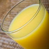 Glas Orangensaft stockfoto
