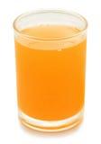 Glas Orangensaft getrennt Stockbild