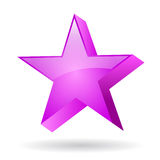 Glas pink star Royalty Free Stock Images