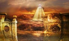 Glas piramide Stock Afbeeldingen