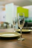 Glas, Platte, Tabelle Stockbild