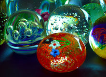 Glas, Presse-papier Stock Fotografie