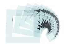 Glas quadriert Spirale Stockfotografie