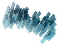 Glas-rectngles Stockfotografie